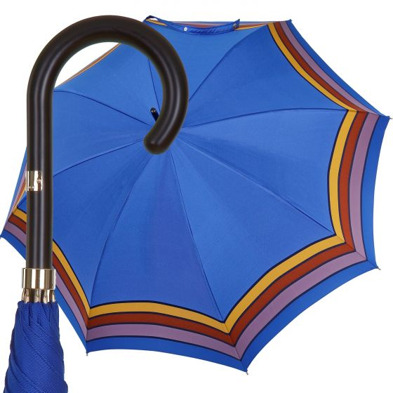 Oertel Handmade Ladies - stripes - blue | European Umbrellas