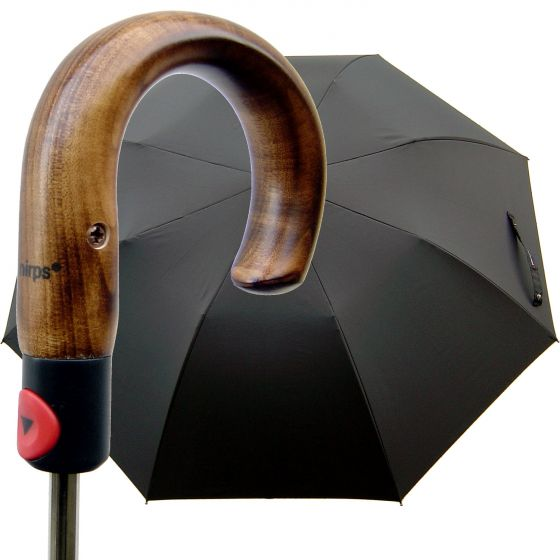 Knirps - Topmatik - Steel-Line crooked handle - black | European Umbrellas